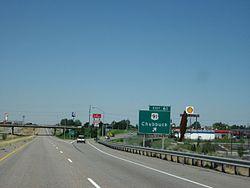 Chubbuck, Idaho entrance, off I-86.