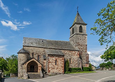 Church of Saint-Mayme in commune of Onet-le-Château, Aveyron, France