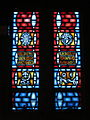Church of the Holy Family (Grand Blanc, Michigan) - interior, stained glass, Transfiguration, Assumption, Sacred Heart of Jesus, Visitation.jpg