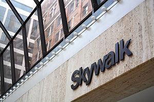 Cincinnati Skywalk - A section of the Cincinnati Skywalk inside the Mercantile Building near E. 4th St. and Main St.