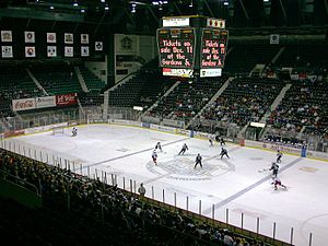 Cincinnati Gardens - The interior of the Cincinnati Gardens