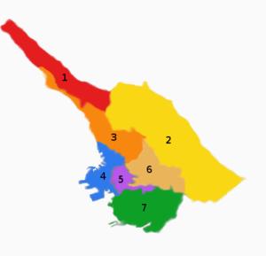 Barcola - Image: Circoscrizioni trieste