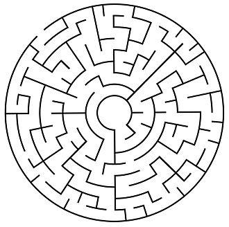 Maze - Image: Circularmazeexample