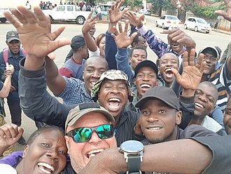 2017 Zimbabwean coup d'état - Citizens in the streets of Harare, 19 November 2017