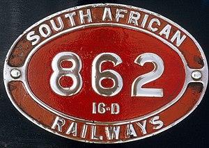 South African Class 16D 4-6-2 - Image: Class 16D no. 862 ID