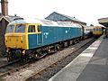 Class 47 at Dereham (8776104812).jpg