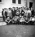 Class photo, kids, soccer ball Fortepan 15414.jpg