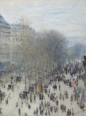 Boulevard des Capucines (Monet) - Image: Claude Monet, 1873 74, Boulevard des Capucines, oil on canvas, 80.3 x 60.3 cm, Nelson Atkins Museum of Art, Kansas City