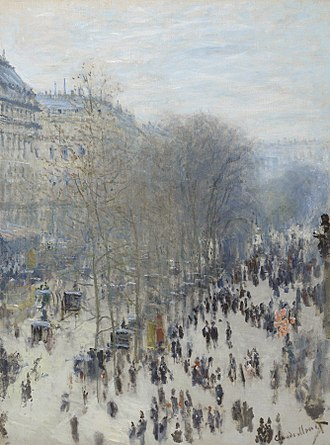 Boulevard des Capucines (Monet) - Image: Claude Monet, 1873 74, Boulevard des Capucines, oil on canvas, 80.3 x 60.3 cm, Nelson Atkins Museum of Art, Kansas City