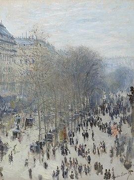 270px Claude Monet, 1873 74, Boulevard des Capucines, oil on canvas, 80.3 x 60.3 cm, Nelson Atkins Museum of Art, Kansas City