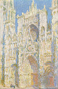 Claude Monet - Rouen Cathedral, West Façade, Sunlight - Google Art Project.jpg