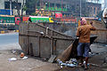 Cleaning time near Maniktala crossing-P1080538.jpg