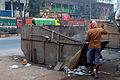 Cleaning time near Maniktala crossing-P1080538.jpg