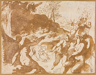 Apollo and the Muses Awakened by the Call of Fame