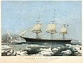 "Clipper Ship ""Red Jacket"" – In the Ice off Cape Horn, on Her Passage from Australia, to Liverpool, August 1854 MET DT2036.jpg"