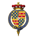 Coat of Arms of Michael Willoughby, 11th Baron Middleton, KG, MC, TD, ED.png