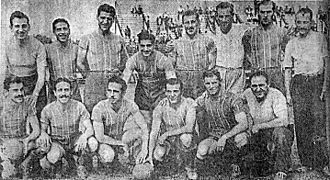 "Club Atlético Colegiales (Argentina) - The 1947 team that won the Primera C (then ""Primera Amateur"") title."