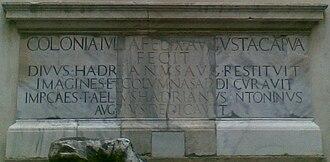Amphitheatre of Capua - L'epigrafe Colonia Iulia Felix