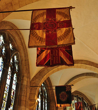Gloucestershire Regiment - The regimental colours in Gloucester Cathedral