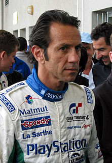 Érik Comas former Formula One driver from France