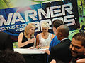 "Comic-Con 2010 - Elizabeth Mitchell and Morena Baccarin from ""V"" sign for fans at the Warner Bros booth (4874444793).jpg"
