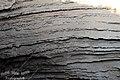 Como secuela de las riadas que sucumben su lateral, así se muestra la superficie vertical del Tollo del Barranco de la Noguera (Bajo) - panoramio.jpg