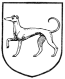 Fig. 372.—Greyhound passant.