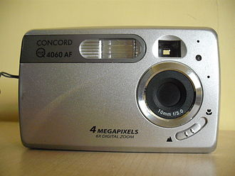 Viewfinder - Early 21st century digicam with viewfinder