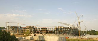 Donbass Arena - Construction site in August 2007