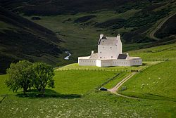 Corgarff Castle viewed from the Lecht Road