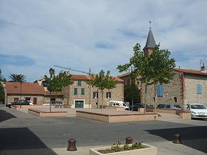 Corneilla-del-Vercol - The village square in Corneilla-del-Vercol