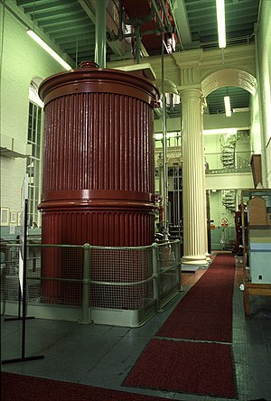 "Losh, Wilson and Bell - Cornish beam engine, Springhead Pumping Station: 90"" engine by Bells Lightfoot"