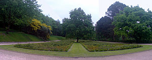 Corporation Park, Blackburn - The Italian Gardens were laid out in 1882