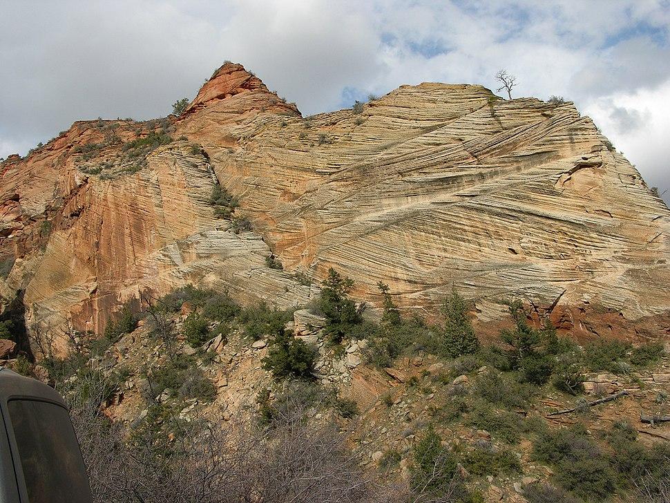 Cross-bedding Of Sandstone Near Mt Carmel Road Zion Canyon Utah