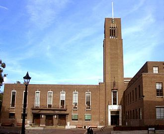 Crouch End - Hornsey Town Hall is in the centre of Crouch End