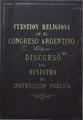 Cuestion religiosa en el Congreso Argentino - Eduardo Wilde.pdf