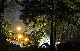 A campsite at Cultus Lake.