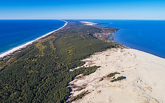 Baltic Sea - Curonian Spit in Kaliningrad Oblast, Russia