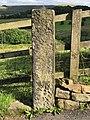Cut Mark at Saddleworth, Church Road Post.jpg