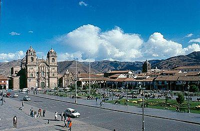 Plaza de Armas del Cuzco en la actualidad.