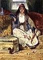 Cypriot Woman Smoking a Chibouk by Alexandre-Gabriel Decamps.jpg