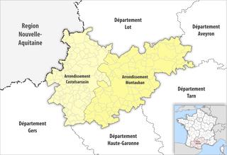 Arrondissements of the Tarn-et-Garonne department