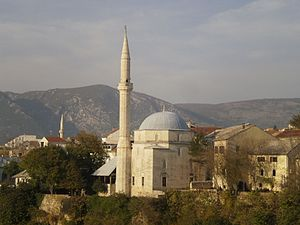 Religion in Bosnia and Herzegovina - Image: Džamija, Mostar 040845