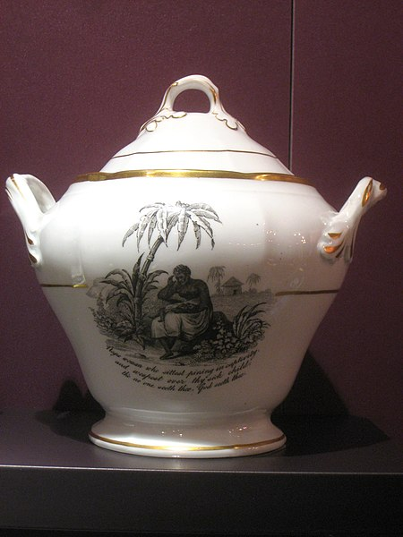 Anti Slavery Themed Sugar Bowl in DAR Museum