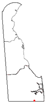Location of Selbyville, Delaware