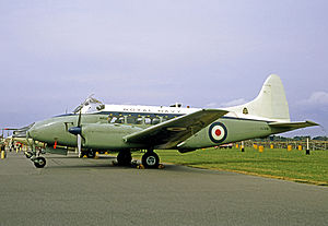 781 Naval Air Squadron - De Havilland DH.104 Sea Devon C.20 of 781 Naval Air Squadron at RNAS Lee-on-Solent in 1969