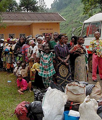 Second Congo War - Image: DRC Rwanda line