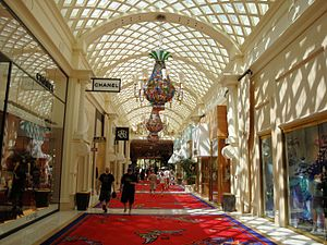 Steve Wynn - The Encore Hotel in Las Vegas, showing the shops inside the buildings.