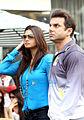 Daisy Shah, Sohail Khan at Celebrity Cricket League, 2014.jpg