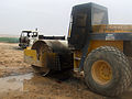 Damaged BOMAG road roller in Afghanistan.jpg